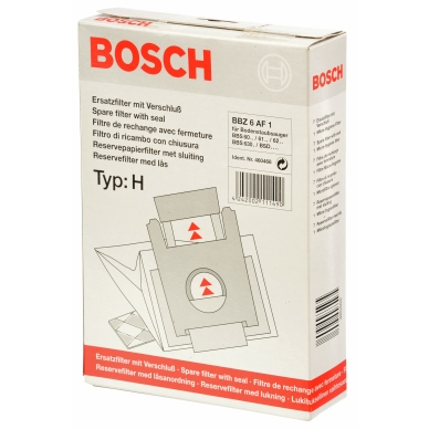 BSH Dammsugarpåsar syntetfiber TYP H BBZ6AF1 5 st+mikrofilter 460468 Replace: N/A
