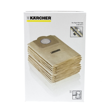 KÄRCHER Dammsugarpåsar, papper, 10st. 6-904-051 Replace: N/A