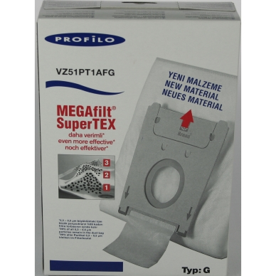 BSH Dammsugarpåsar syntetfiber TYP G VZ51PT1AFG 5 st+mikrofilter 461746 Replace: N/A